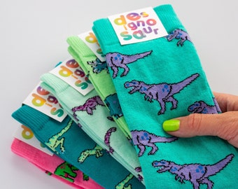 LOTS OF SOCKS! [Size M] 5 pairs of socks for dinosaur fanatics!