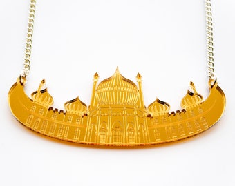SAMPLE SALE - Gold Pavilion Necklace