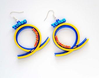 TURBO rollercoaster statement earrings