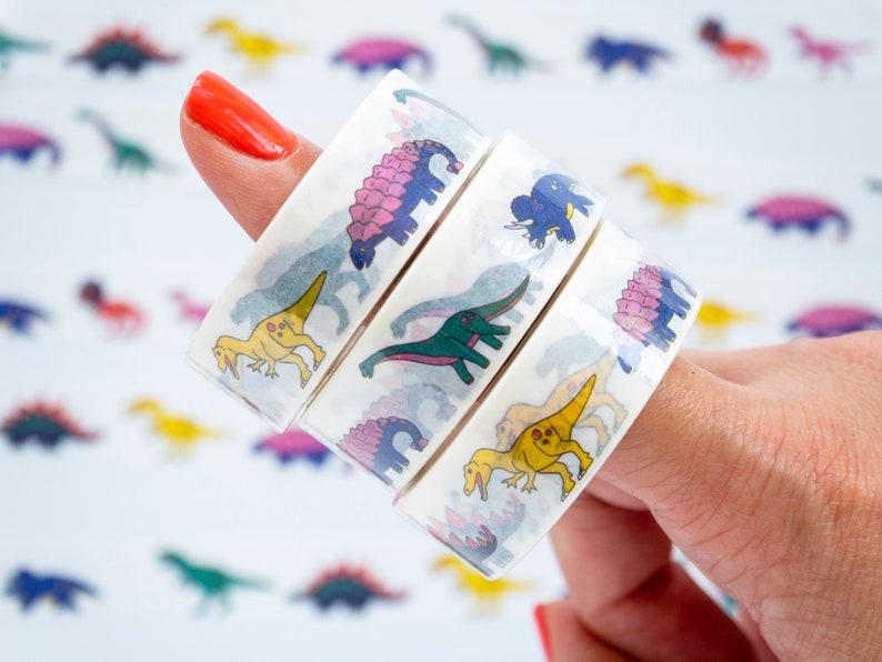 dinosaur washi tape japanese masking tape image 0