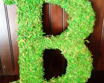 "8"" Moss Covered Letter"