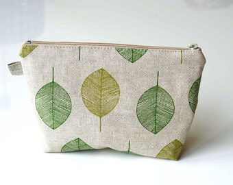 Tropical Palm Leaves3 Pattern Canvas Change Coin Purse Assorted Change Cash Bag With Zip