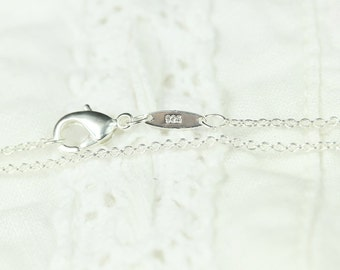 """20"""", 22"""", 24"""" inch Cable Chain Necklace, Silver Plated, Silver Cable Chain, Dainty Chain, Long Chain, Layering Chain, Everyday, Finished"""