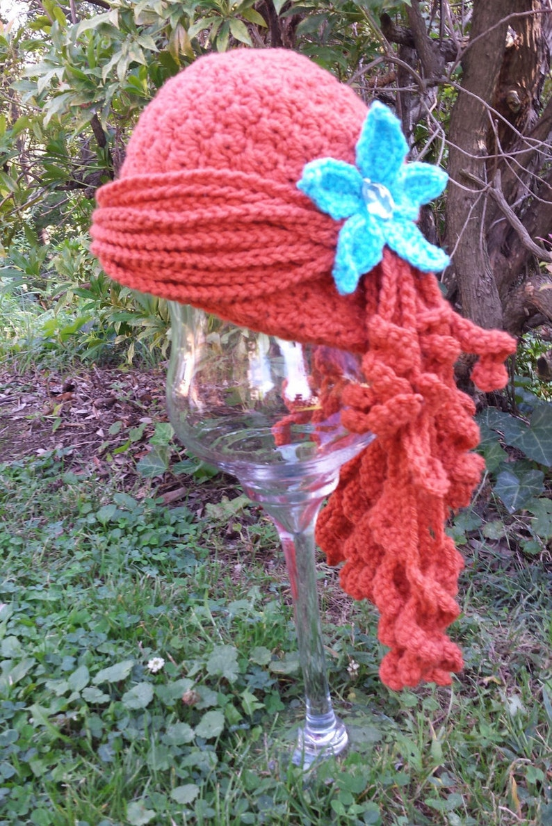 PATTERN   Little Mermaid Ariel Inspired Crochet Wig Hat image 0