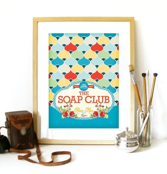 Savon Club Affiche Drôle De Salle De Bain Wc Affiche Impression Illustration Pour Wc Toilette Salle De Bain Impression Tirage Poster Art Salle De Bain