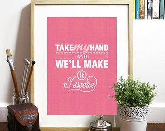 Bon Jovi music inspired Poster quote song nursery print inspirational motivational art print poster typography poster print typography print