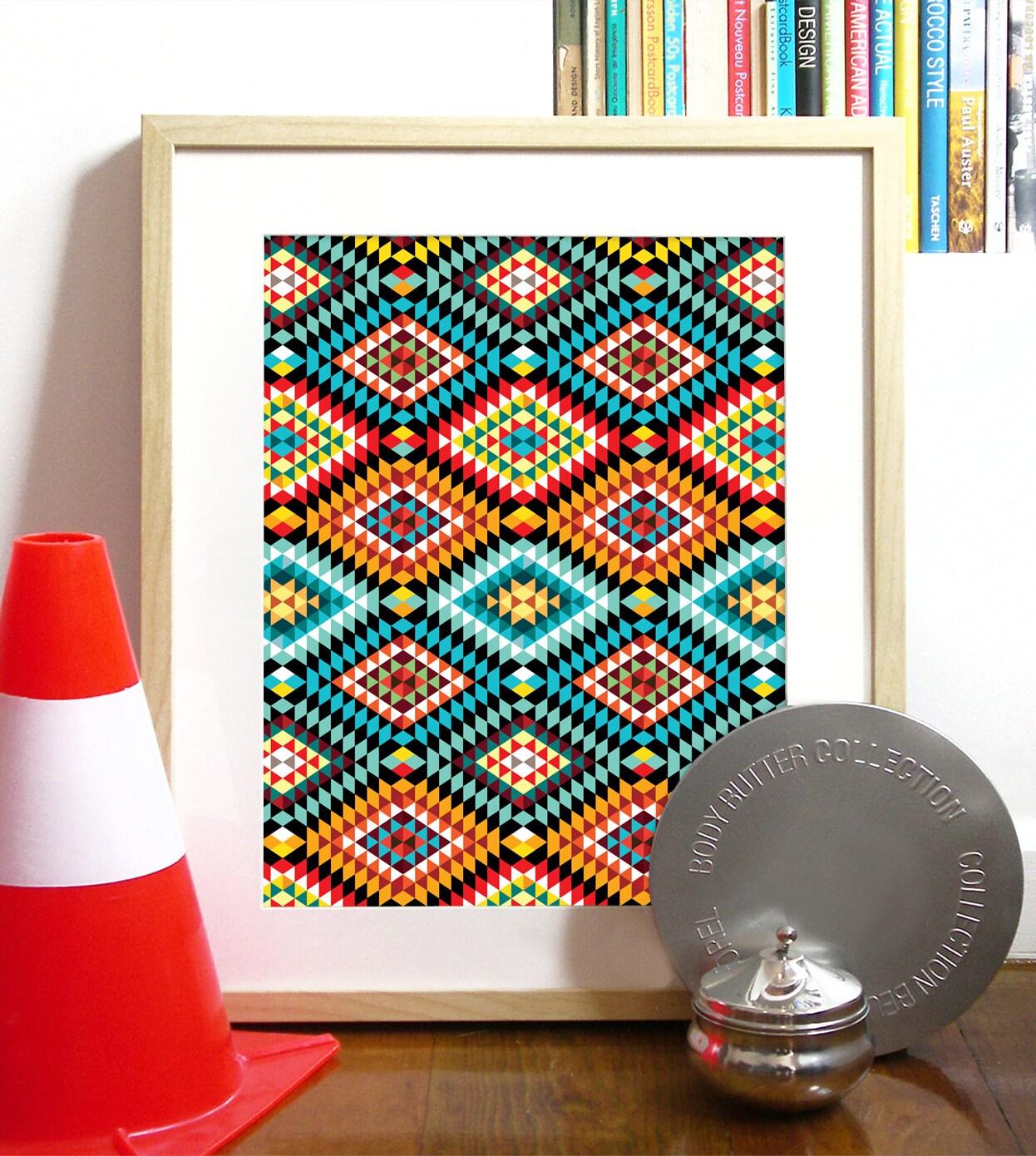 Stammes-afrikanische Muster Poster gewidmet meinem   Etsy