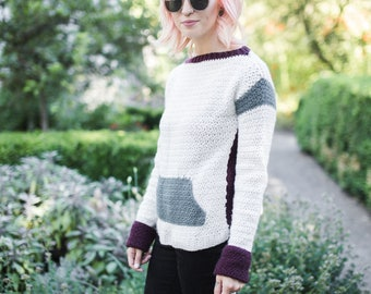 Brixton Sweater Crochet Pattern // Intermediate // Written Tutorial