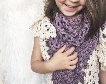Mulberry Shawl Crochet Pattern // Tutorial // Easy