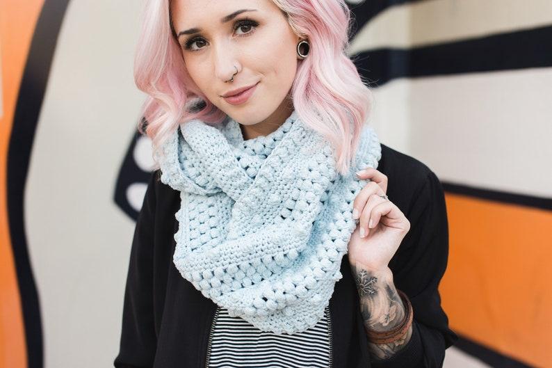 Dottie Infinity Scarf Crochet Pattern // The Hook Nook // image 0