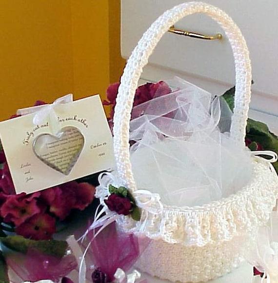 Häkeln Sie Muster Blumenmädchen Korb Hochzeit Braut