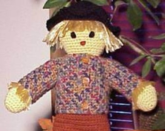 Sammy Scarecrow CROCHET PATTERN Fall, Autumn Doll