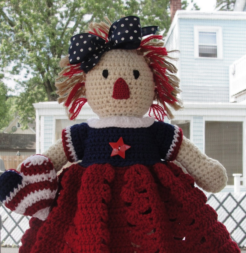 Crochet Pattern Doll Or Americana Home Decor Patriotic I Love Etsy