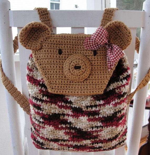 Easy Crochet Pattern Quick Beginner Teddy Bear Backpack Etsy