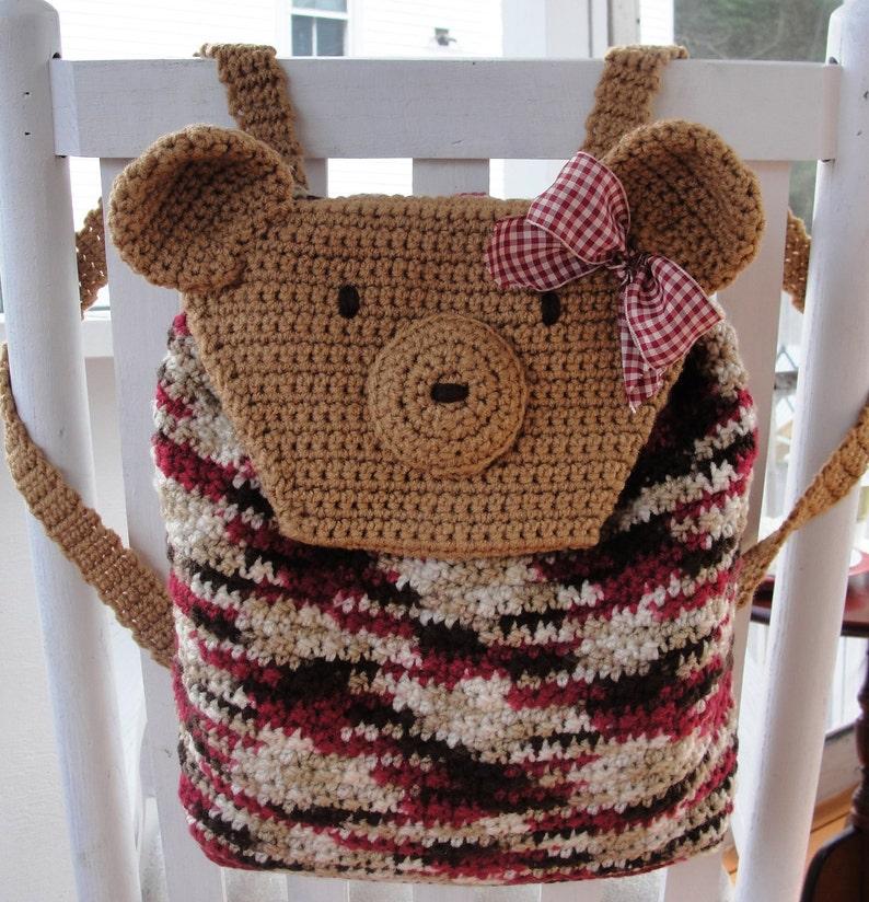 CROCHET PATTERN Teddy Bear Backpack image 0