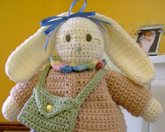 HÄKELN Muster Bunny Rabbit Puppe oder Wohnkultur Schultasche | Etsy