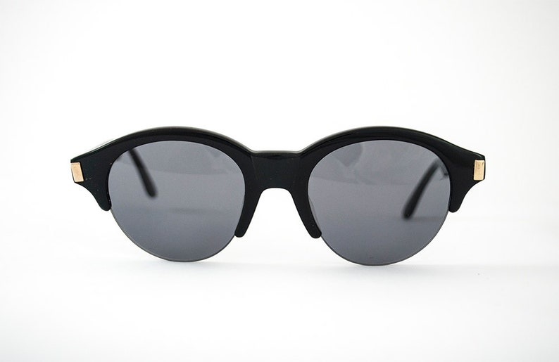 760f96974b65 Vintage 80s 90s LADY GAGA Style Super Cool Retro Round Black