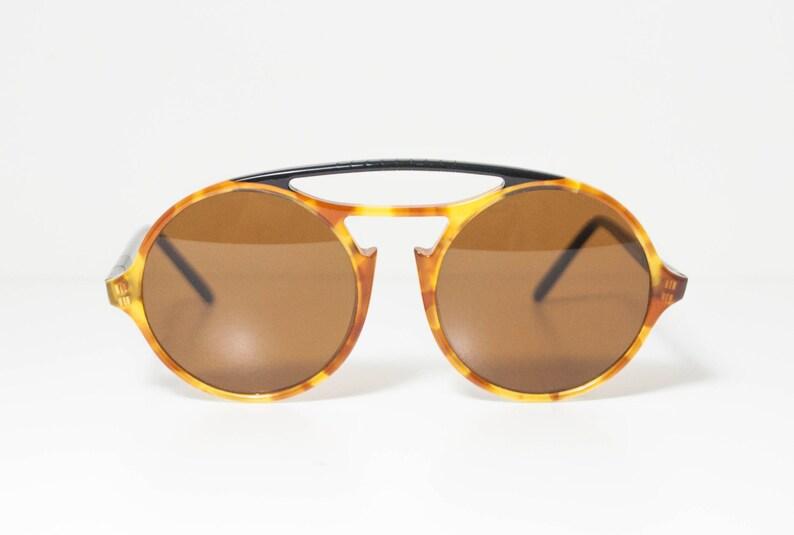 548e2f23b1e97 RARE Persol Ratti 650 Vintage Round Sunglasses. Light Yellow