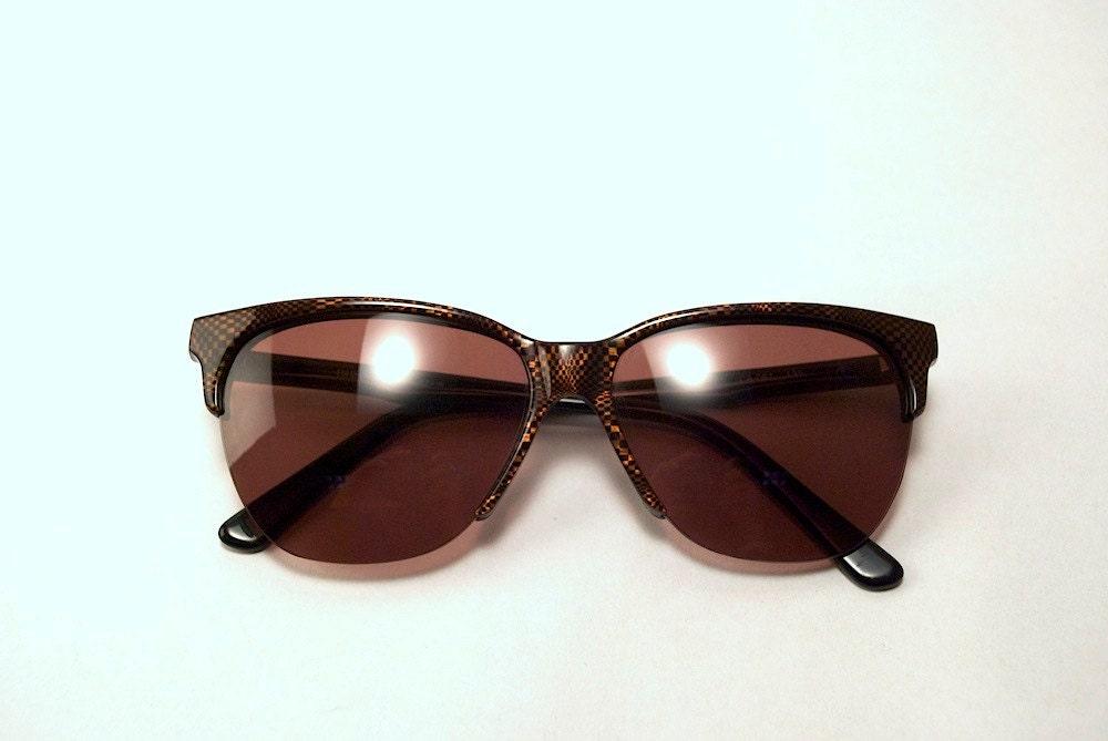 Vintage late 80s Brown-Bronze Half Frame INDO Brand