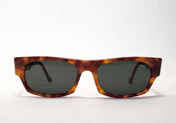709cb32b04 Classic Vintage Light Tortoise Color Square Italian Sunglasses