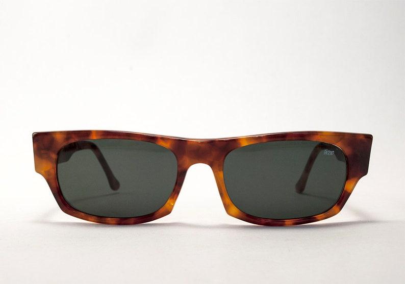 ddc1ddcc32a2e Classic Vintage Light Tortoise Color Square Italian Sunglasses