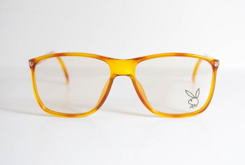 8cee90e4810ce Playboy Vintage 80s Eyeglasses. Yellow Tortoise Tone Frames.