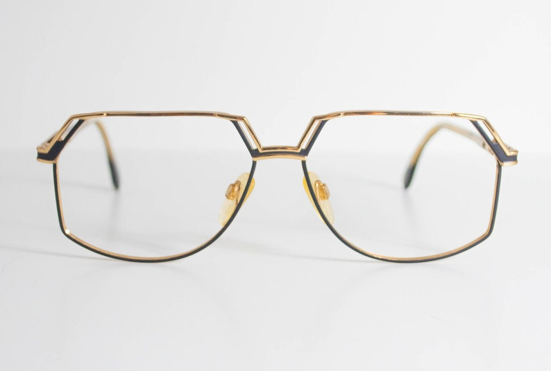 4e0129de38ce Cazal 738 Vintage. Mate Black and Gold Tone Frames.
