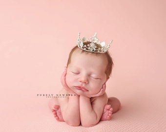 Newborn Crown, Photo Prop, baby crown, photography prop, crystal crown, newborn photo prop, princess crown - Jenny