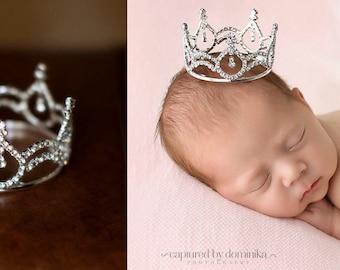 Newborn Crown, crown, newborn photo prop, princess crown, crystal crown, baby crown, photo Prop, photography prop - Juliana