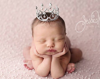 Newborn Crown, crown, newborn photo prop, princess crown, crystal crown, baby crown, photo Prop, photography prop - Lola