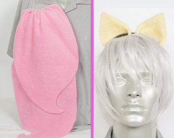 Fluttershy Adjustable Ears and/or Tail - buy as a set or separate Costume sized for Kids or Adults