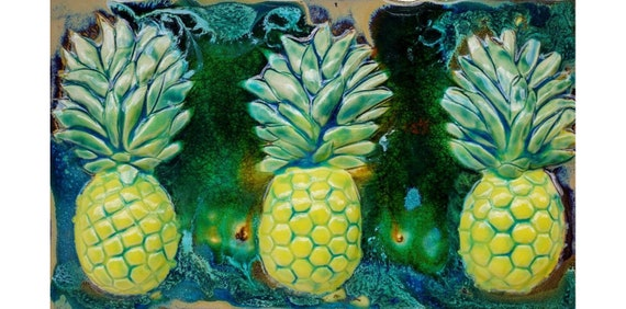 Pineapple Tiles Kitchen Backsplash Bathroom Wall Etsy