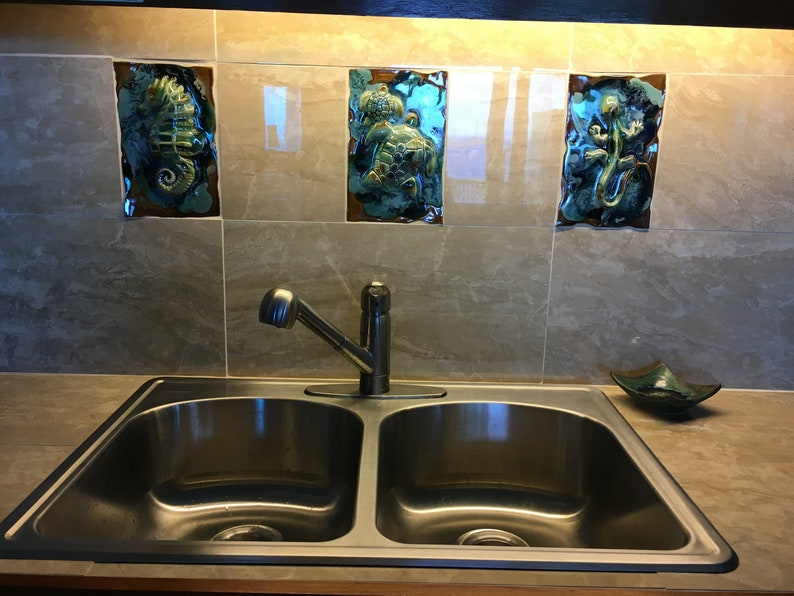 Pineapple Tile Tropical Decor Pineapple Bathroom Tropical Decor Kitchen Backsplash Decorative Tiles Home Decor Home Art Decor
