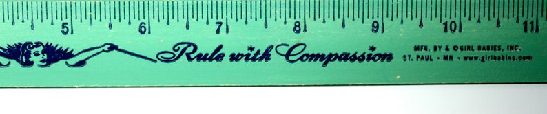 Wooden School Ruler Smart Women Rule With Compassion Mint Green 12 inch Wooden Ruler Girl Babies The Golden Rule