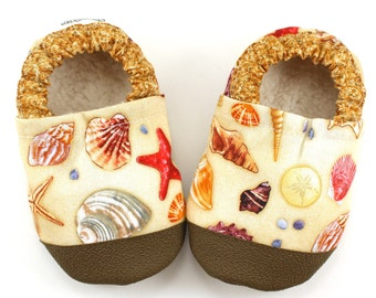 seashell shoes baby shell booties soft sole shoe beach baby beach clothing rubber sole shoes seashell booties nautical baby shoes vegan