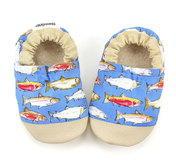 Baby Fish Shoes Fishing Baby Shoes Soft Sole Shoes Fish Etsy