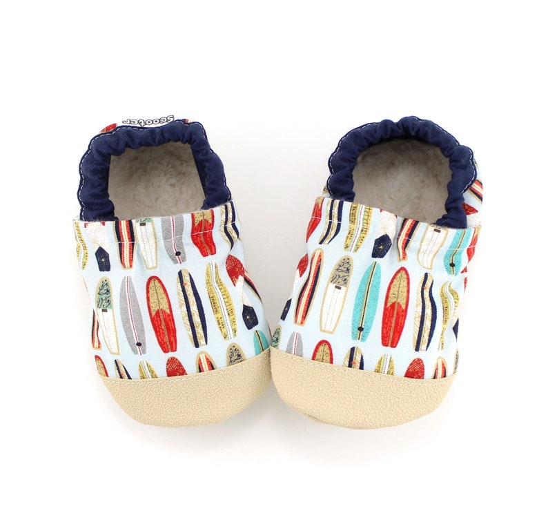 f5478762c64a6 surfboard baby shoes - kids soft sole shoes - kids surfboard slippers -  baby shower gift - first birthday gift - kids beach birthday party