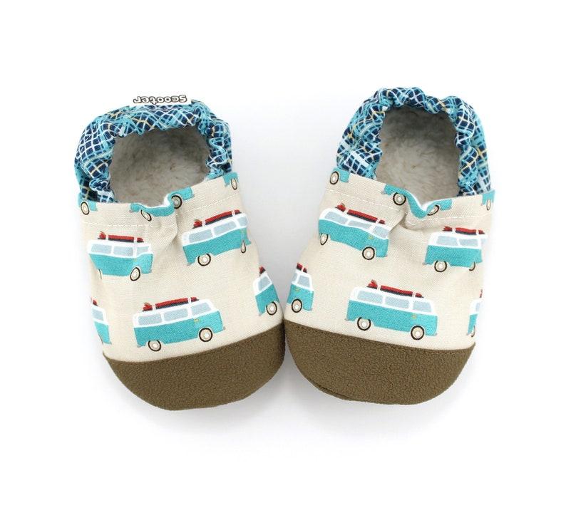 440b745863ee0 surf van beach baby shoes - kids soft sole shoes - kids surf van slippers -  surfing theme baby shower - first birthday gift -vegan baby gift