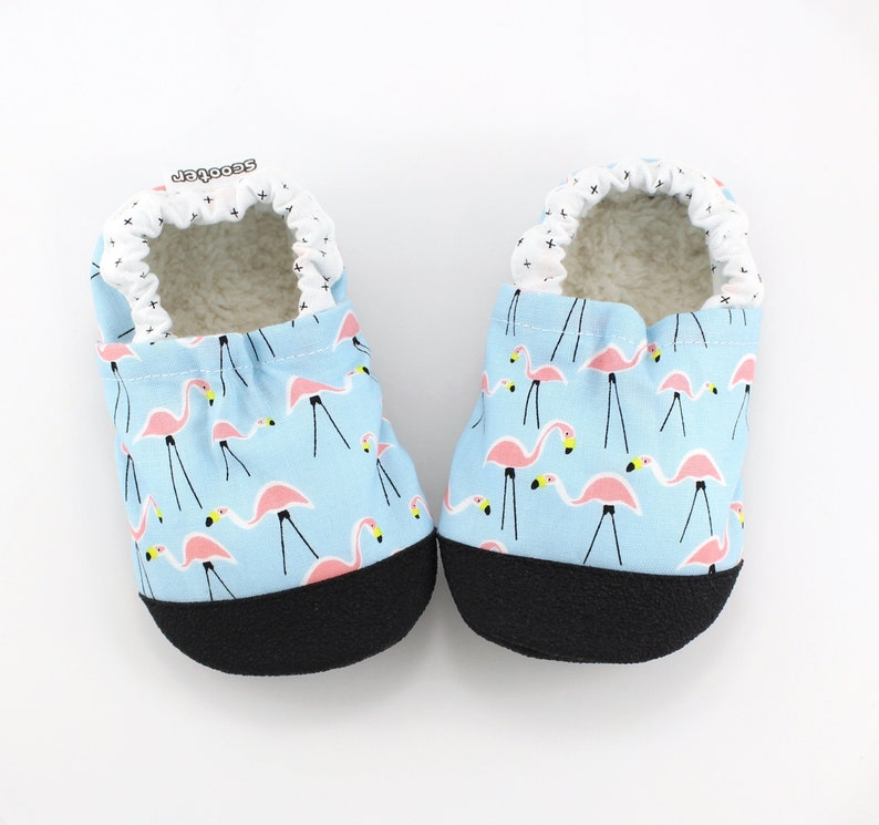 a2a0747a8851b flamingo baby shoes - kids soft sole toddler shoes - kids flamingo slippers  - toddler moccasins - flamingo birthday gift - vegan baby gift