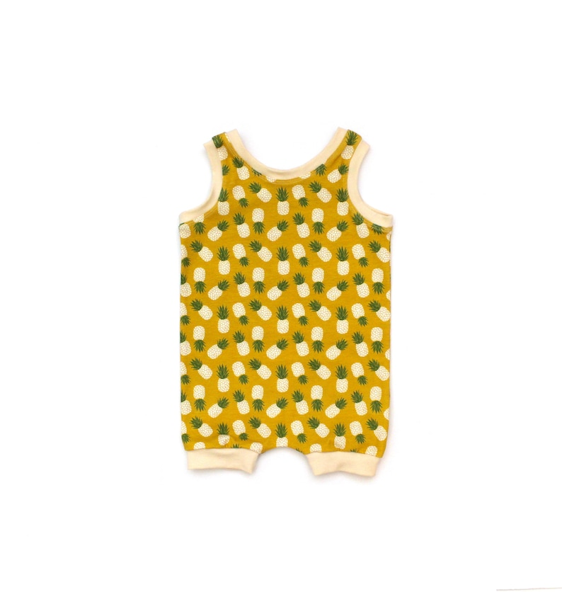 359f65600 Pineapple romper yellow romper pineapple clothing tropical