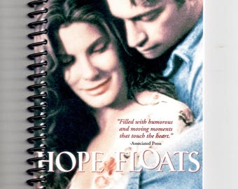 Hope Floats,  VHS Film Box, Handmade, VHS Upcycled Notebook, Journal