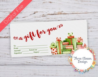 A Gift For You Printable Gift Certificate - Christmas Gift Printable Gift Certificate