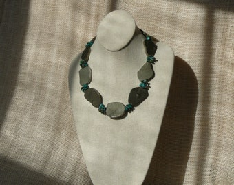 Pyrite & Turquoise Necklace