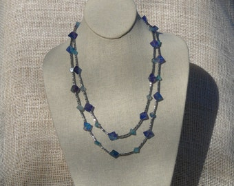 Flourite (dyed) Long Necklace