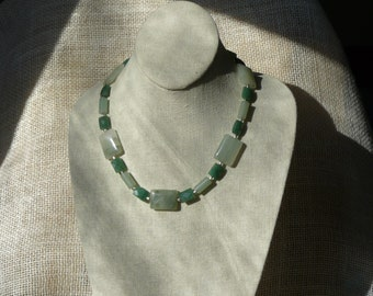 Agate and Aventurine Necklace