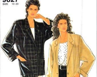 Simplicity 9827 Woman's Unlined Jacket Sewing Pattern Size 10, 12, 14, 16, 18, 20 Vintage 1990s UNCUT