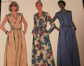 ee18d000 Butterick 6376, Vintage Vest and Dress Sewing Pattern
