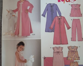 Pyja... New Look Childrens Easy Sewing Pattern 6334 Nightgown Free UK P/&P