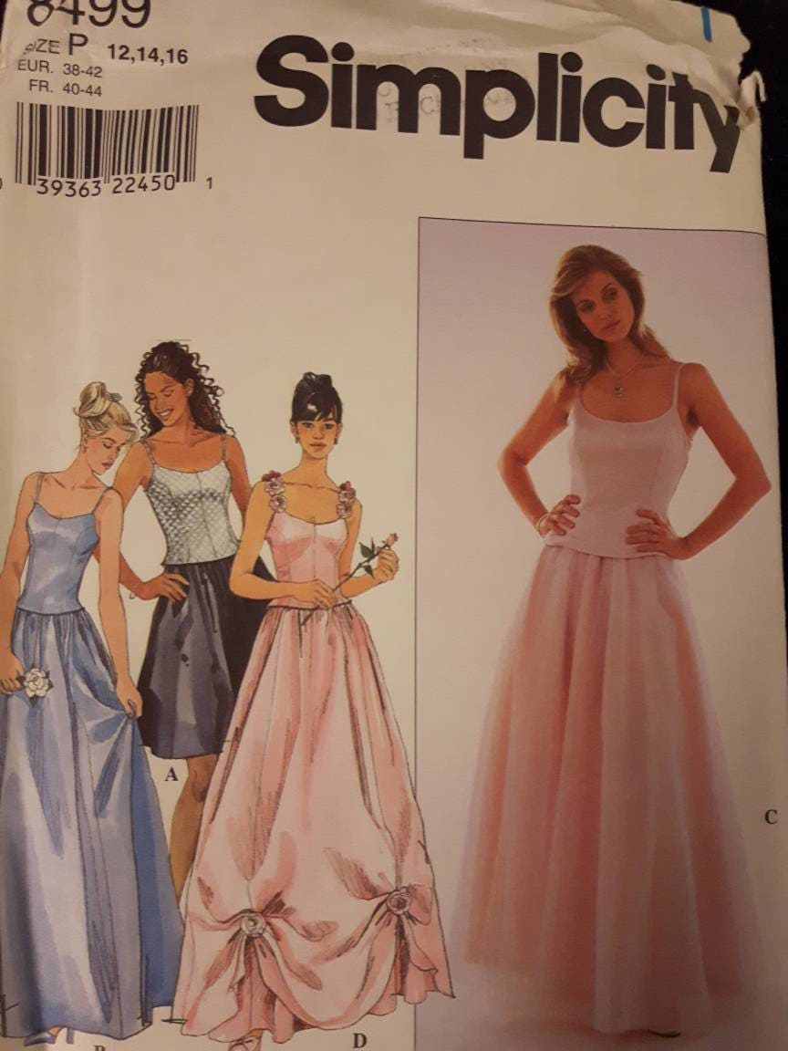 Simplicity 8499 Uncut Evening Gown Sewing Pattern | Etsy