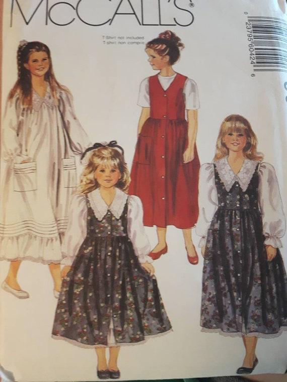 McCall 6042 Mädchen Kleid und Jumper Schnittmuster | Etsy